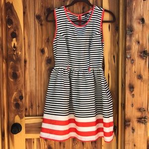 Striped black & orange dress
